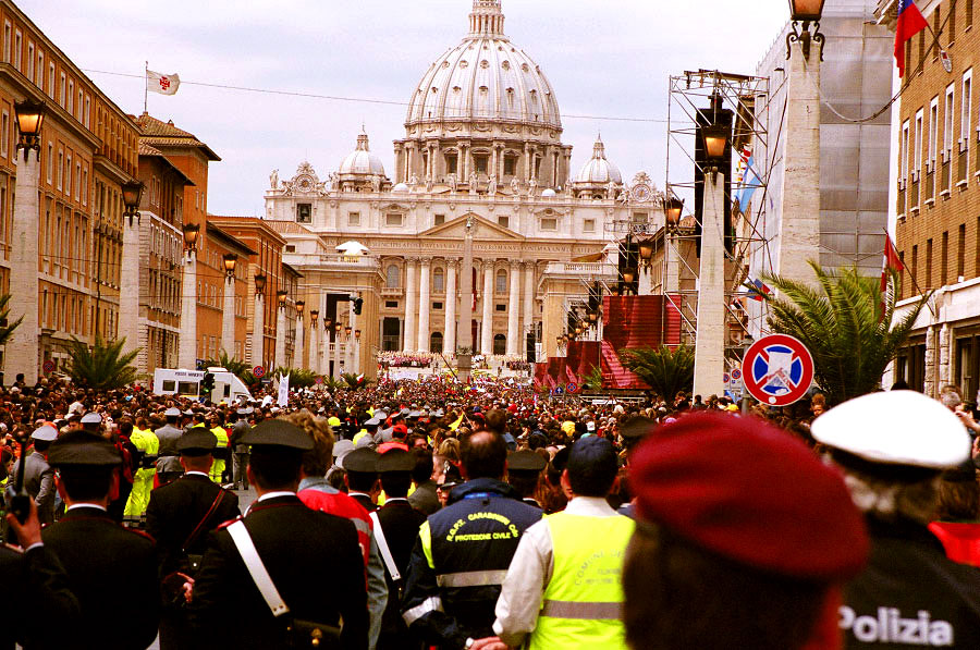 The inauguration of the head of the Roman Catholic Church, Pope Benedict XVI, at the Vatican.