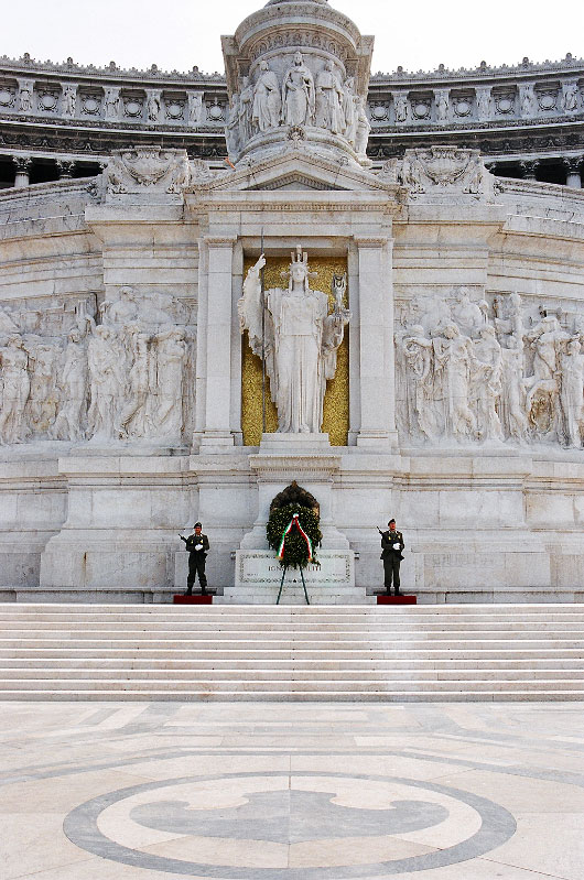 The Victor Emmanuel Monument was built in honour of the first king of unified Italy. It was inaugurated in 1911.