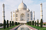 The Taj Mahal, India's biggest tourist attraction, was built by Mughal Emperor Shah Jahan as a tomb for his second and favorite wife, Queen Mumtaz Mahal, who died during childbirth.