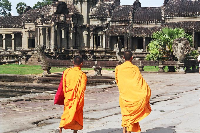 Dedicated to the Hindu god Vishnu, Angkor Wat was built during the first half of the 12th century as a funeral temple for a descendant of King Jayavarman II.