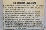 The chilling {quote}Security Regulations{quote} at the Tuol Sleng interrogation and torture centre in the capital. Rule 6 reads: {quote}While getting lashes or electrification you must not cry at all.{quote}