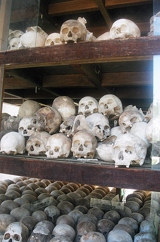 More than 8,000 skulls are on display at the Killing Fields of Choeung Ek. The site is a grisly, yet popular tourist attraction.