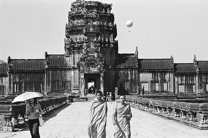 The main entrance to Angkor Wat, built during the height of the Khmer civilisation and now one of the world's greatest architectural wonders.