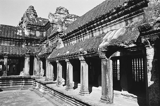 Part of the grand Angkor Wat temple complex.