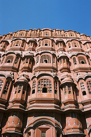 The five-story, pyramid-shaped Hawa Mahal was built in 1799 and is one of the city's most important landmarks.