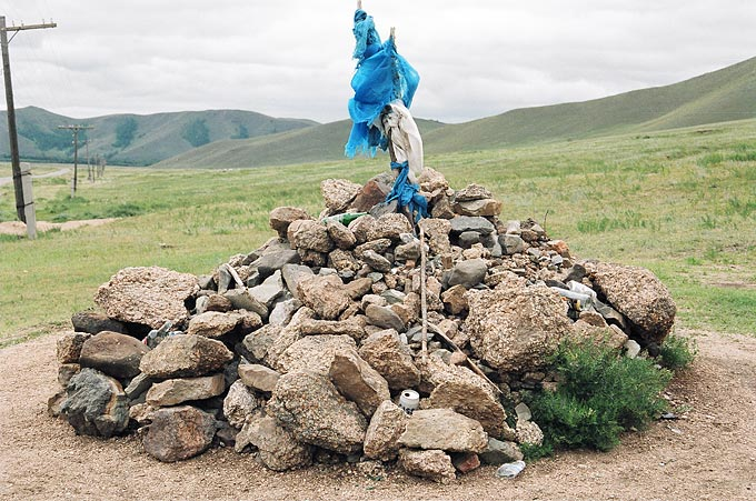 The ovoo, sacred mounds of stone and wood, can be seen throughout Mongolia and are the most obvious manifestation of shamanism in the country.