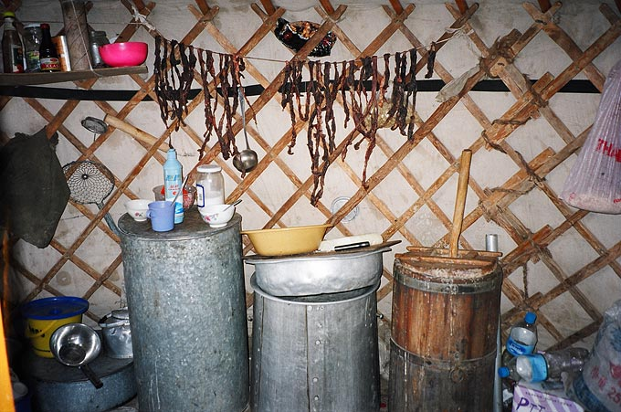 Mongolians love to drink, and airag, which is fermented mare's milk, is popular among herders across the country.