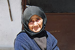 An elderly relative outside her simple village home in Argos, in the southern Peloponnese.