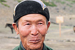 A village elder in Omnogov, located in the Gobi Desert. Omnogov is the largest but least populated aimag, or province, in Mongolia.