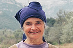 An elderly woman in the tiny Greek village of Merkouri, population 65, in the southern Peloponnese.