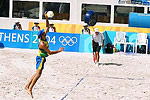 Beach volleyball quickly became one of the more popular Olympic sports in Athens.