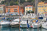 The picturesque port of Nice, the capital of the Cote D'Azur, in southern France.