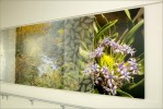 Resin panels embedded with natural elements add depth and visual interest
