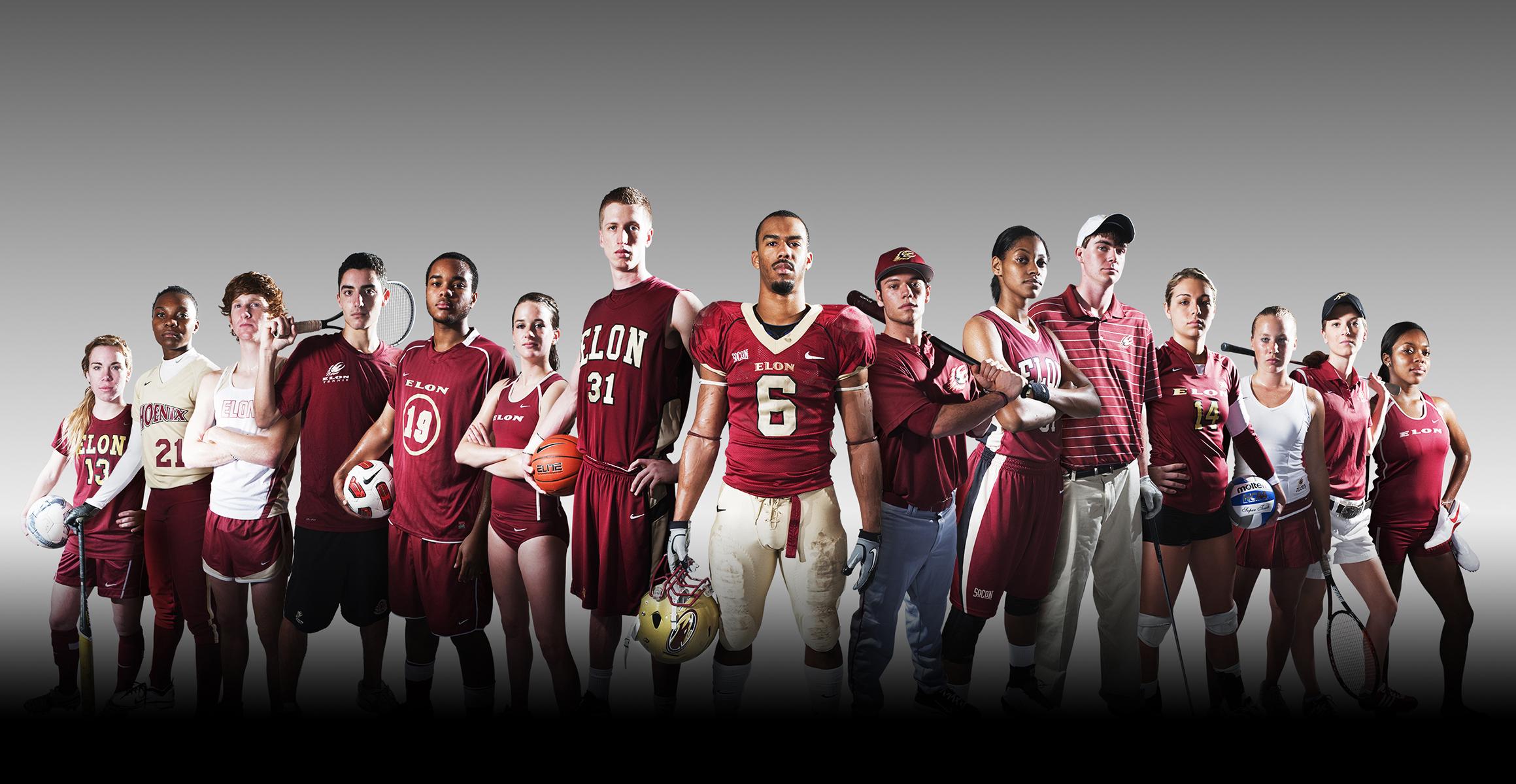 Promotional image for Elon University athletics.