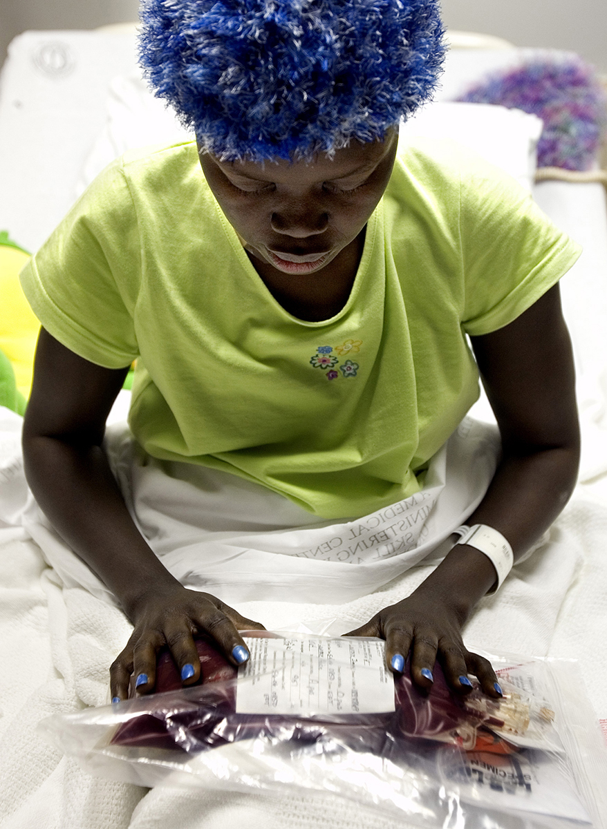 Sitting in her hospital bed, leukemia patient Alice Lawrence pauses and places her hands meditatively on the bag of bone marrow she's about to receive. Her brother came to the United States from Sudan to donate the marrow. After navigating international embassies, innumerable tests and massive costs, Alice, a Sudanese refugee, finally has the marrow she needs to save her life.