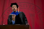 Neil deGrasse Tyson, astrophysicist and author, speaks at Elon University's Spring Convocation.