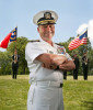 Navy Vice Admiral William E. Gortney, the director of the Joint Staff, poses for a portrait.