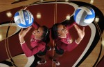 Volleyball players and twin sisters Danielle (left) and Chanelle Walker are one of the six pairs of freshman twins at Elon University.