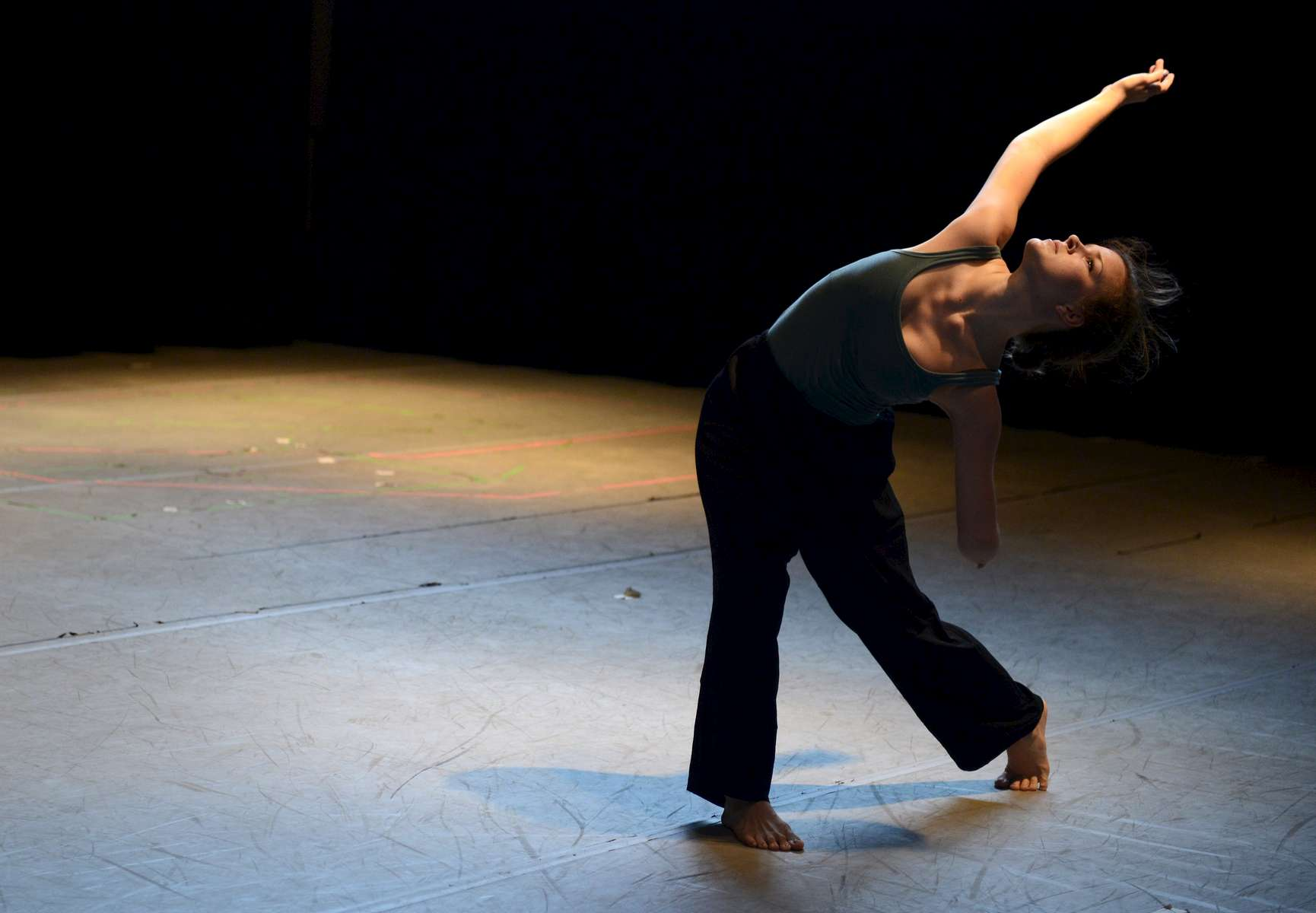 Julie Crothers, a BFA dance student at Elon, choreographed a solo about her prosthetic arm. Crothers was invited to perform the piece in Manhattan.