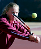 Swedish student Frida Jansaker attends Elon on a tennis scholarship.