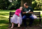 Michael Melts, 57, reads in Russian to his mother, Hannah Gilis, 85, in a shady spot at Hartford's Elizabeth Park. Gilis is legally blind, and Melts says he helps her out as often as he can. {quote}When I was a baby she cared for me and now I try to do the same. When she's happy, I'm happy too,{quote} he said.