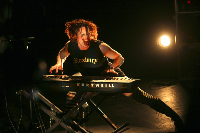 Amanda Palmer of The Dresden Dolls, Halloween, New York ,2005