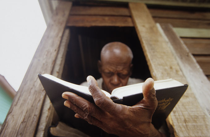 Man With Bible, Grenville, 2004