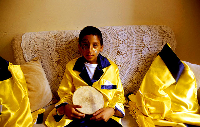 Young Minstrel at Home Prior to Marching in Carnival, Bo Kaap, 2003