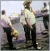 GONDELIERS, VENICE, 2000
