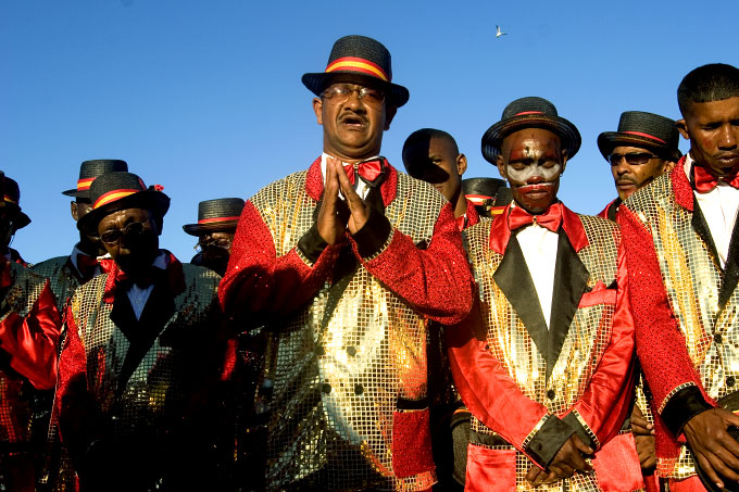 Muslim Members of Harare Elsies River Troupe Pray Before Performance, January, 2006
