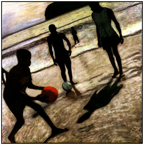 BEACH FOOTBALL, GRENADA, WEST INDIES, 1998