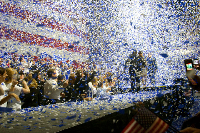 Victory Rally for Deval Patrick elected Governor of Massachusetts,November 2006