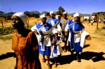 Members of the Church of Zion on their way to a church service, Paarl, South Africa, 1996