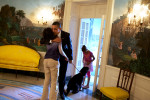 President Obama Hugs His Girls Goodbye