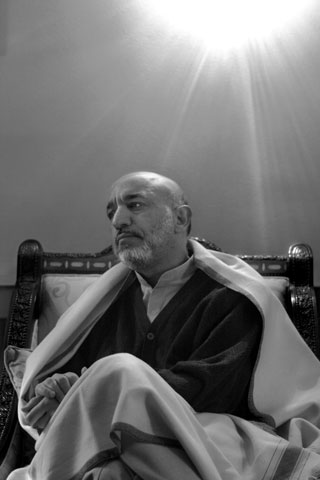 President Hamid Karzai in his residence in Kabul.