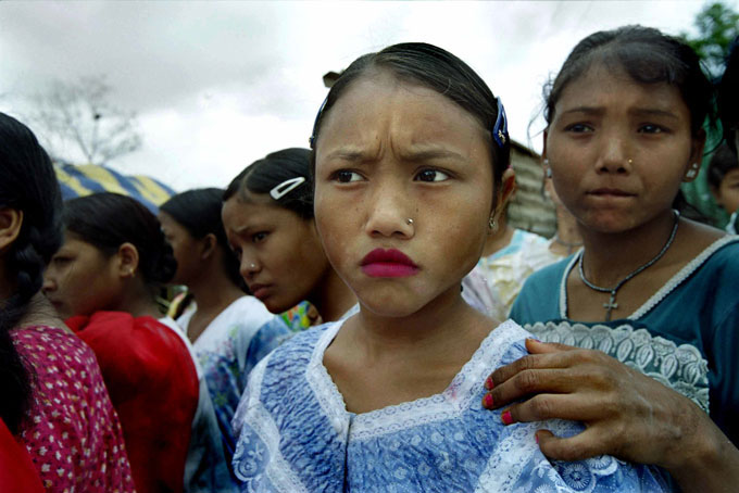 Nepali girls as young as eight work in the circuses. Other older girls have been in the circus for most of their lives and have become tough and jaded about their lives. They are often complicit in the abuse of the younger ones. All of the girls are bonded like sisters, however.
