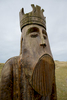 Statue of one of the famous Uig chessmen, at Uig.