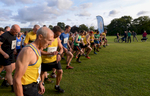 Runners at the start in Fitz Park, Keswick, Cumbria