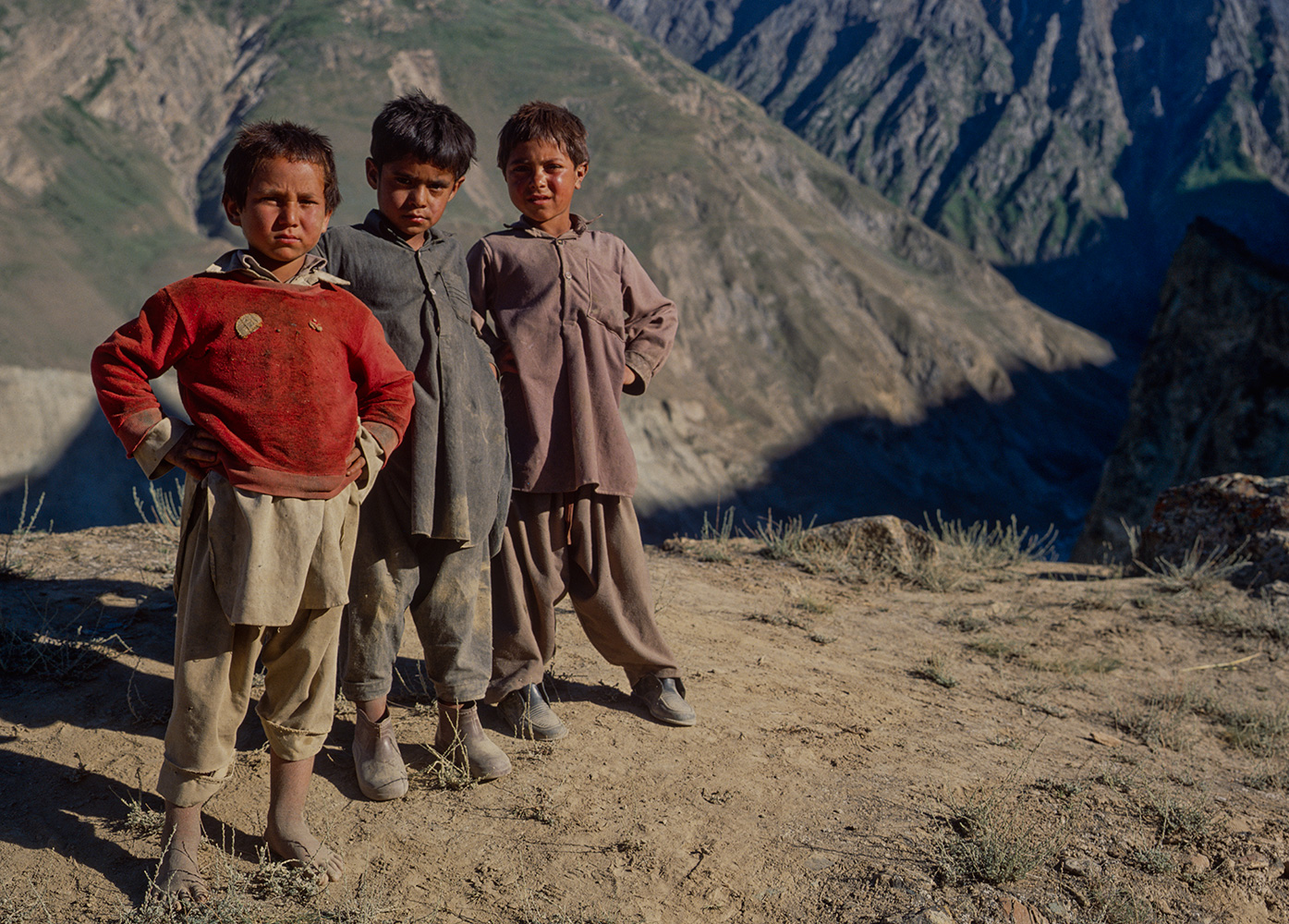Three boys from the village who came with me on a photographic excursion one afternoon...