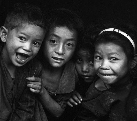 School children at Hurikot villageBronica ETRS, 75mm, Ilford HP5 @ 800ASA