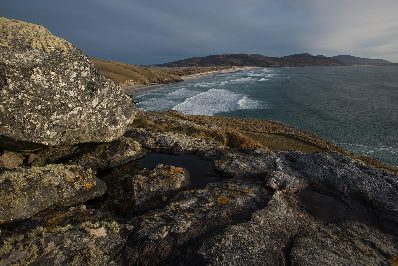 Traigh Eais sands from Dun Sgurabhal iron age fort