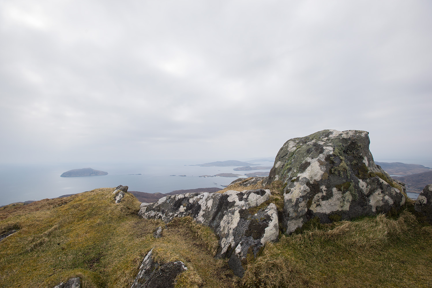 The summit of Heabhal - highest point on the island.