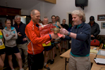Receiving his trophy after winning the Latrigg Fell Race at the Keswick Mountain Festival in 2008. Simon won the British Fell Running Championship in 2002 & 2005 and came 2nd in the World Skyrunning Series in 2005.
