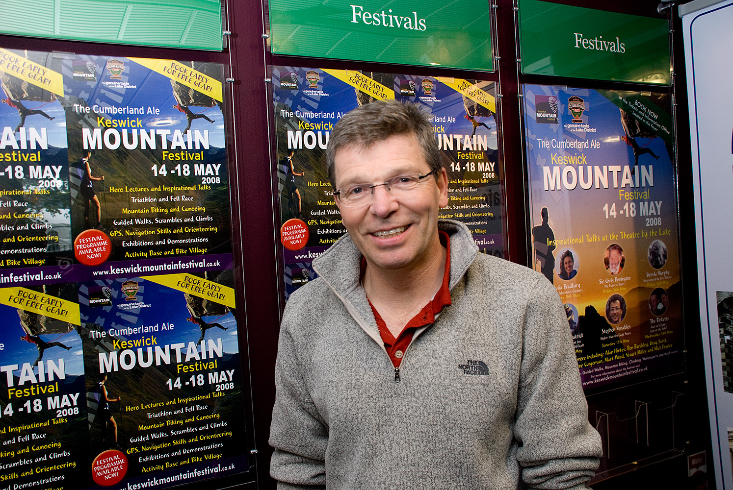 At the Keswick Mountain Festival 2008.Michael {quote}Mick{quote} Fowler (born 1956 in London) is an award-winning British mountaineer and author.He was voted the {quote}Mountaineers' Mountaineer{quote} in a poll in The Observer and, with Paul Ramsden, won the 2002 Piolet d'Or and Golden Piton awards for their ascent of 6,250-metre (20,510 ft) Mount Siguniang in the Qionglai Mountains in the Sichuan Province of China. In 2012, he was awarded the King Albert award for his {quote}outstanding contribution to mountaineering{quote}, and in 2013, he and Paul Ramsden became the first pair to win a Piolet d'Or award twice after their ascent of the 6,142-metre (20,151 ft) Prow of Shiva in the Indian Himalayas. Respect!