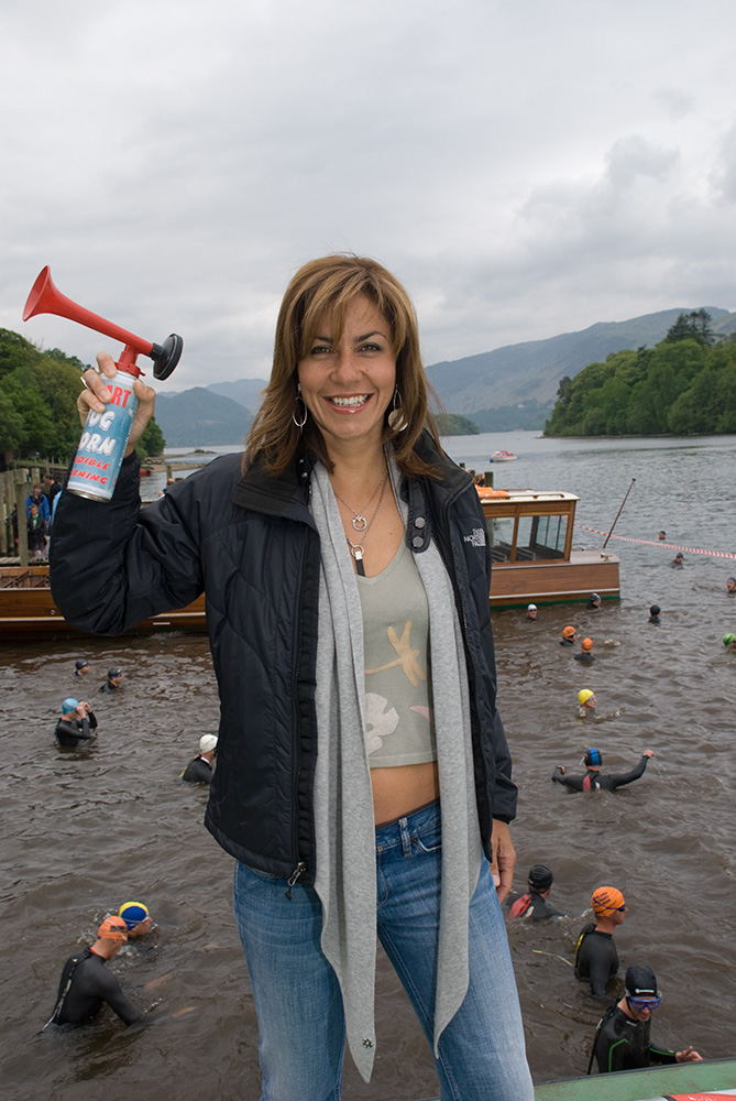 Starting the triathlon at the Keswick Mountain Film Festival in 2008. Julia Bradbury is an English television presenter, employed by the BBC and ITV, specialising in documentaries and consumer affairs. She is most recognised for co-presenting the BBC One programme Countryfile with Matt Baker from 2004 until 2014.