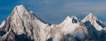 From Concordia on the Baltoro glacier. A stitch of two frames.Nikon D300, 60mm