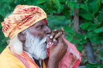 Sadhu smoking his chillum at Rishikesh, Uttarakhand