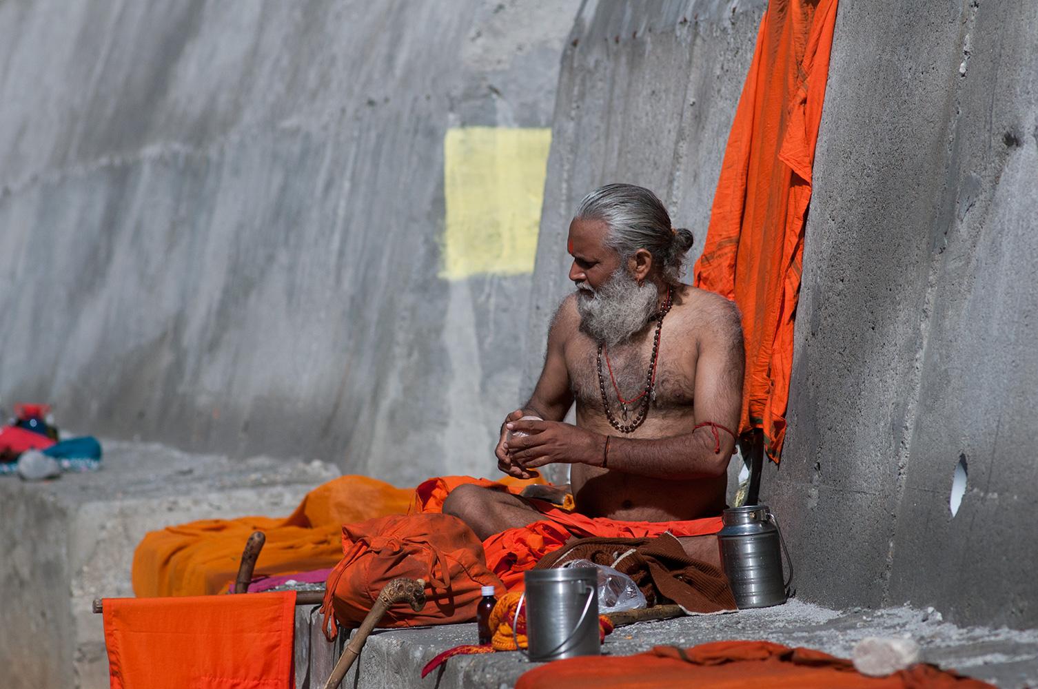 Sadhu at Gangotri, Uttarakhand
