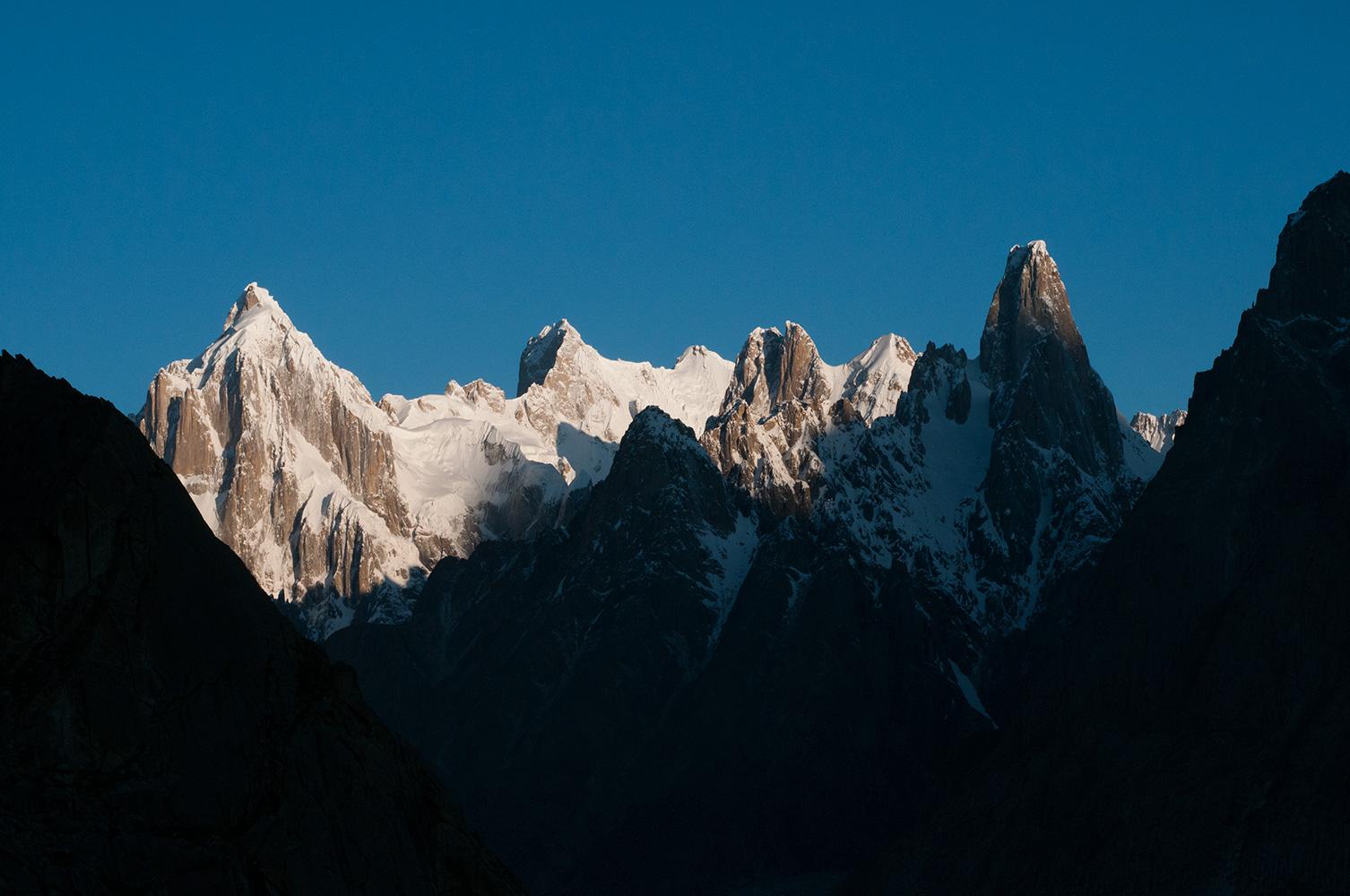 L to R; Paiju Peak, Choricho, Pt 6012, Hainablak & Uli Biaho