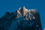 An early morning telephoto from Urdokas on the Baltoro glacier